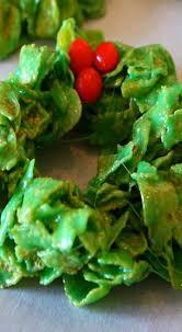 christmas cornflake wreaths recipe cornflake wreaths wreaths
