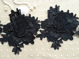 black roses for sale sale black lace trim vintage venice large black roses