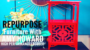 how to repurpose furniture with amy howard lacquer spray paint