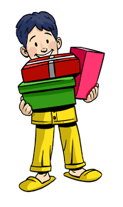 boy holding presents clip art free download from christmasgifts