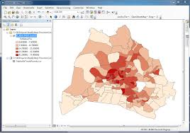 Data Map Joining Census Data Tables To Shapefiles In Arcmap Spatial