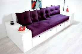 canap tiroir canapé cubes blanc tiroirs couleur avec futon et coussins abc m