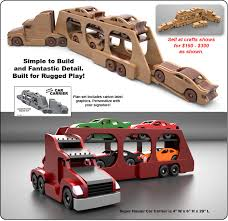 famous kenworth semi truck u0026 trailer wood toy plan set wood