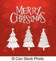 vector clip art of cute cartoon merry christmas card with cat