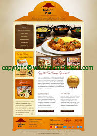 indian menu template indian restaurant template design