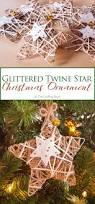 glittered twine star christmas ornament the crafting nook by