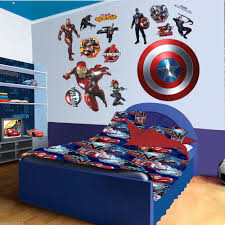 aliexpress com buy iron man captain america wall stickers home