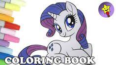my little pony coloring book rarity equestria girls mlp happy