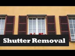 Spray Paint Vinyl Shutters - how to remove u0026 install shutters removing window shutters youtube