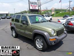 jeep sport green 2003 jeep liberty sport in cactus green pearl photo 7 578736