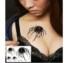 tato keren 3d 3d spider temporary tattoos for neck arm leg cool sexy waterproof