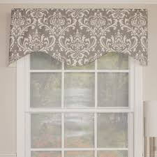 Patterns For Curtain Valances Fascinating Gray Valance Kitchen Curtains With Damask Pattern