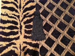 fireplace mantel runner tiger chenille with black and gold