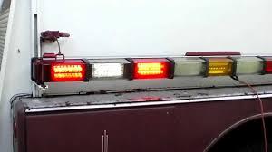 whelen ambulance light bar whelen 86 led 4500 series flush mount light bar youtube