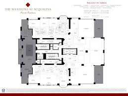Floor Plan Mansion Mansions At Acqualina Riteway Properties Lll Inc
