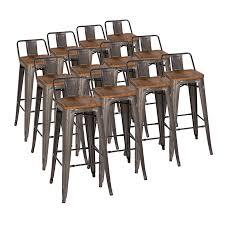 Metal And Wood Bar Stool Modern Barstools Adjustable Stools Eurway Modern