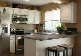 popular kitchen designs bar white cabinet countertop and black chairs wonderful small