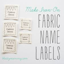 printable fabric tags make diy iron on fabric name labels the diy mommy