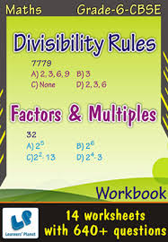 maths 6 cbse printable worksheets for math divisibility rules