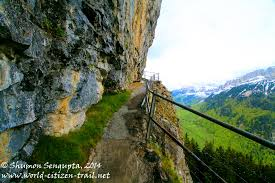 narrow picture ledge berggasthaus aescher adventure in the mountains in appenzell