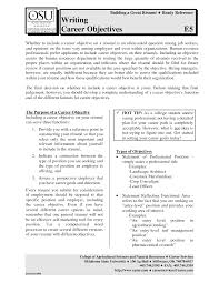 How To Write A Resume Objective Examples 100 College Resume Objective Samples Objective Example