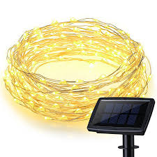 Starry String Lights Amber Lights On Copper Wire by 200 Leds Waterproof Solar Powered Starry String Copper Wire Fairy