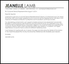 Sample Cover Letter For Customer Service Resume by Customer Service Representative Cover Letter Sample Livecareer