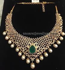 jewelry gold diamond necklace images Best 25 indian diamond jewelry ideas indian jpg