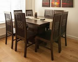 dark wood square table contemporary teak dining tables