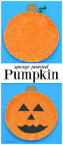 halloween crafts for young children sponge painted pumpkin craft thanksgiving and craft
