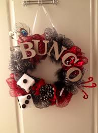 Halloween Bunco Party Ideas by Bunco Wreath Stuff I Made Pinterest Bunco Ideas Bunco