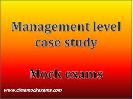 cima mock exams management level case study practice mock exams