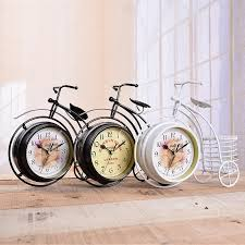 wholesale boutique home decor wholesale european style retro quartz clocks pastoral iron cyclist