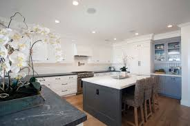 White And Blue Kitchen Cabinets Kitchen Fancy White Kitchen Cabinets With Soapstone Countertops