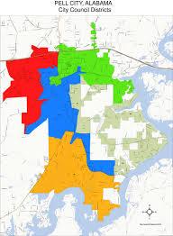 Alabama City Map City Council City Of Pell City Alabama
