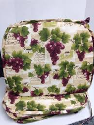4 grapes wine vineyard tuscan postcard kitchen chair pads seat