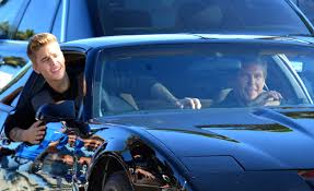 justin bieber new car 2014 justin bieber and david hasselhoff cruise in kitt for new
