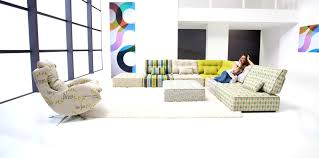 furniture fascinating arianne modern modular sectional sofa fama