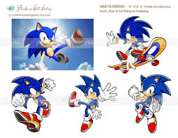 sonic the hedgehog instant digital 19 large cutouts for