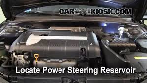 follow these steps to add power steering fluid to a hyundai