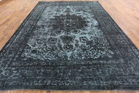Black And Brown Area Rugs Stupendous Black 10x13 Overdyed Hand Knotted Tabriz Oriental Wool