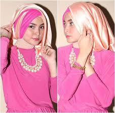 tutorial hijab pesta 2 kerudung tutorial hijab kreasi turban dengan 2 scarf panjang untuk ke pesta 6