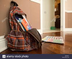 a child s backpack with coloring books is left behind inside a