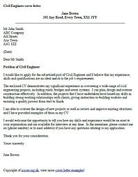 civil engineer cover letter example cover letter examples