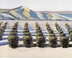 Wayne Thiebaud Landscapes by Wayne Thiebaud Orange Grove 1966