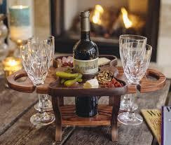 wine bottle holder valentines day gift wood wine caddy wine