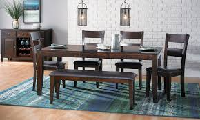 dining room table solid wood dark mango dining set haynes furniture virginia u0027s furniture store