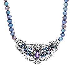 online get cheap amethyst butterfly carolyn pollack u2014 necklaces u2014 jewelry u2014 qvc com