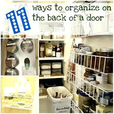 back of closet door storage closet door storage ideas for a small