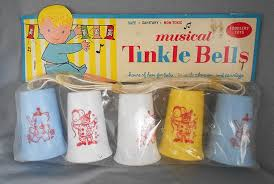 vintage musical tinkle bells baby crib toy by stahlman toy in x